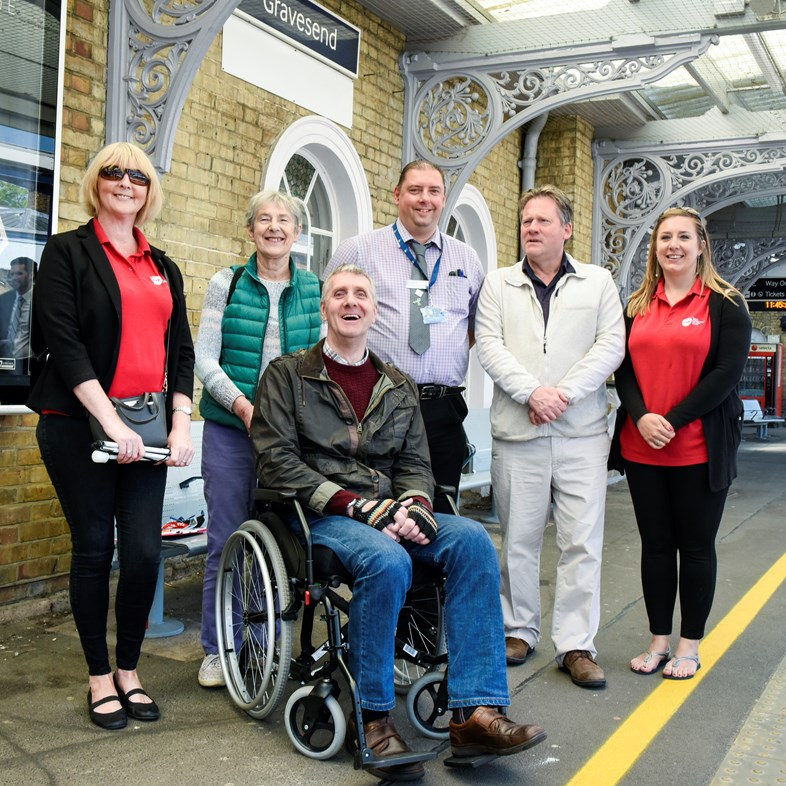 Rail stations in Kent and south east London to benefit from £300 million Access for All funding: Gravesend Disability Access Awareness 02