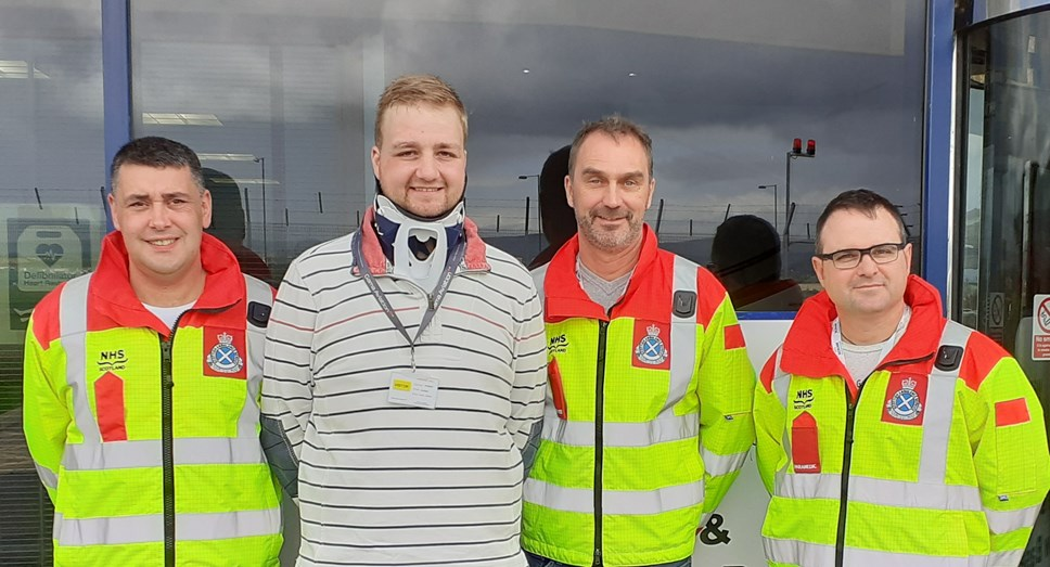 Chef meets crew who saved life after horror crash: Jordan and crew