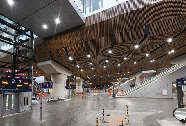 London Bridge - Jan 1, 2017: London Bridge's new concourse, pictured just before it opened fully for the first time
