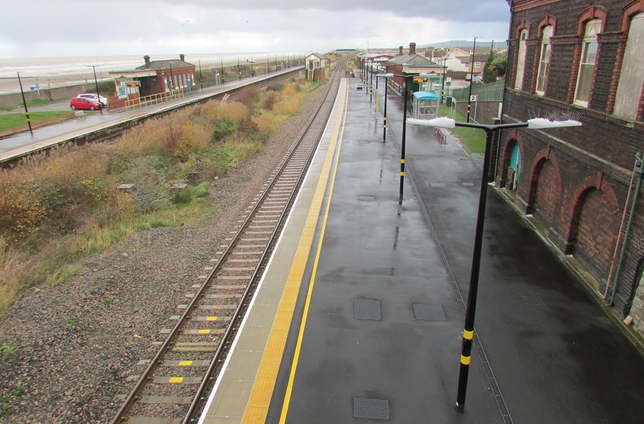North Wales railway upgrade continues in Abergele: Track layout and upgrade works have already been completed at Abergele and Pensarn station as part of the North Wales Railway Upgrade Project