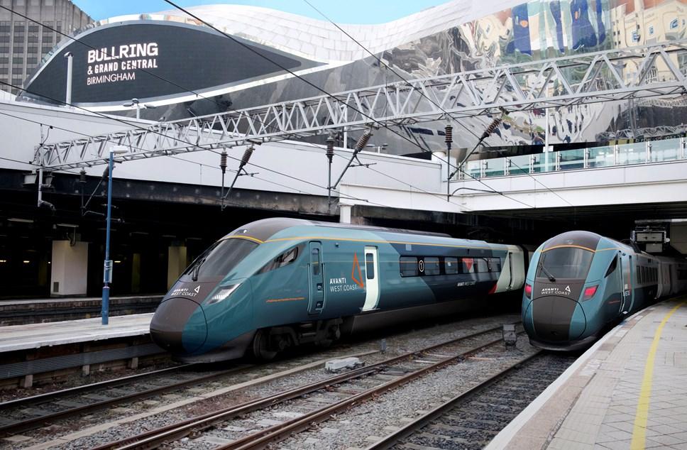 First Trenitalia chooses Hitachi Rail to build new InterCity trains for Avanti West Coast: CGI image of Hitachi Fleet