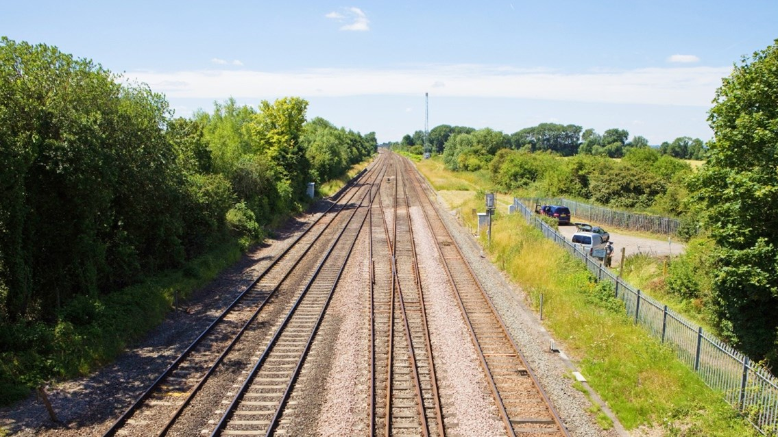 Old track which will be replaced on the Chiltern main line as part of the underpass work
