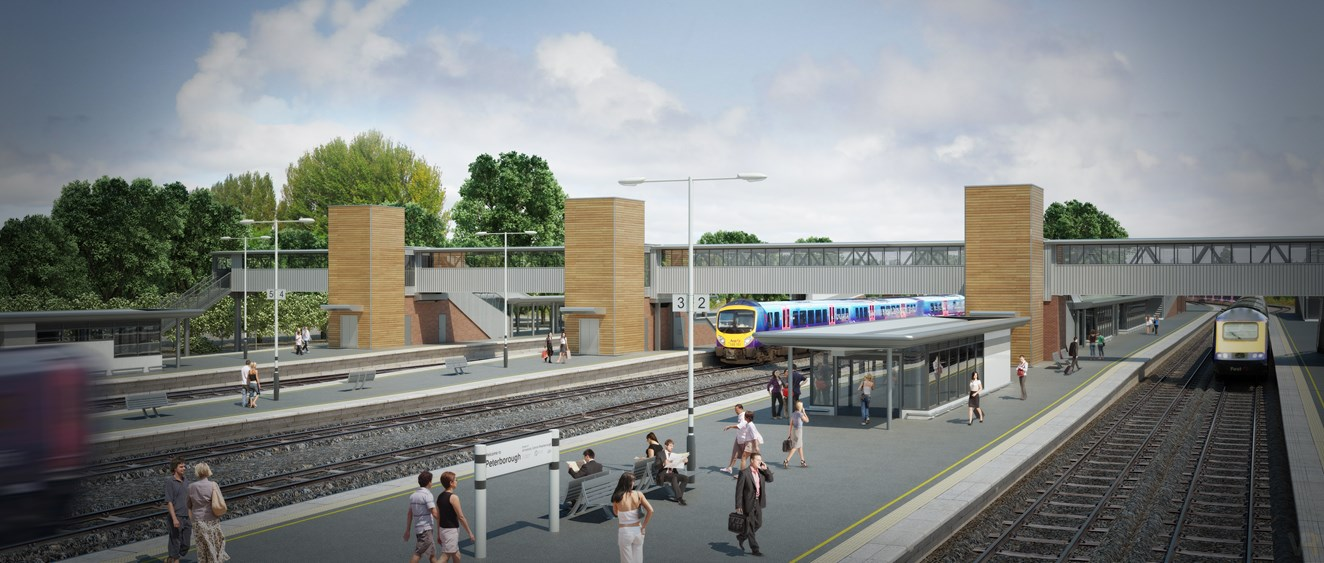 Final milestone of Peterborough station improvement work to be completed over Christmas period: Peterborough station