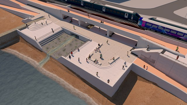 New link bridge and Dawlish Water stilling basin