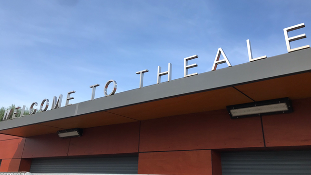 Investment at Theale station brings improved facilities: Theale station entrance