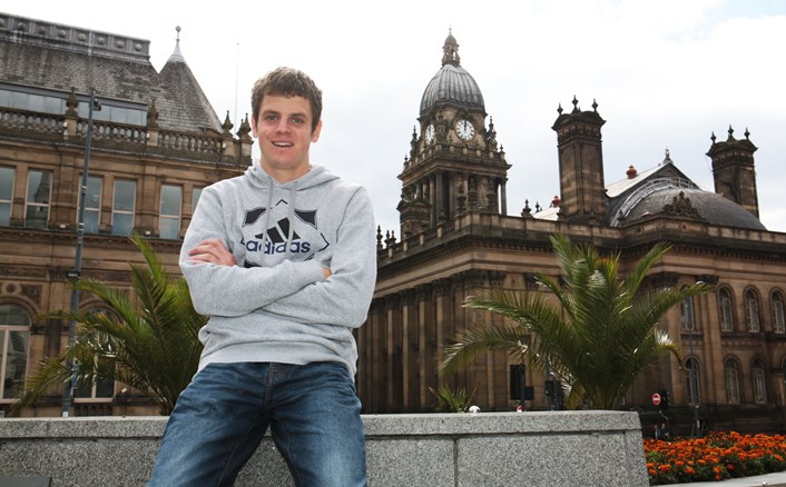 Sporting stars inspire at Leeds schools conference: jonnybrownlee_leedstownhall.jpg