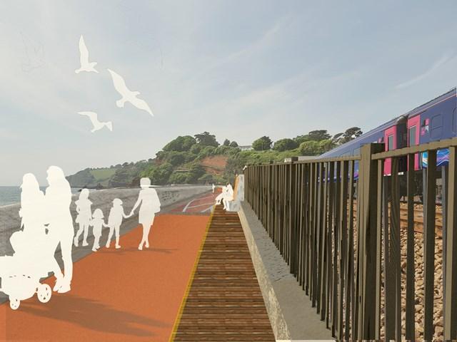 Dawlish sea wall render image 2