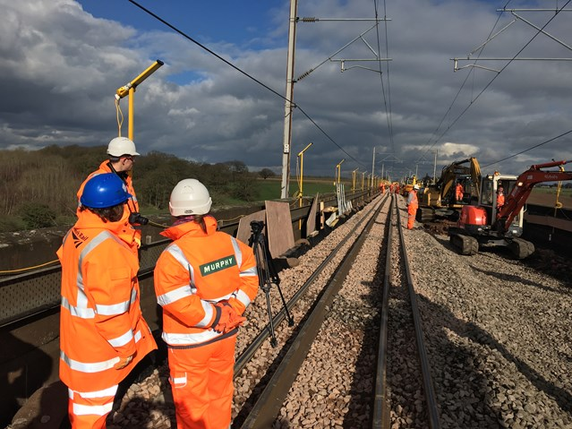 Work going well on Cheshire's most iconic railway bridges: Holmes Chapel viaduct 4