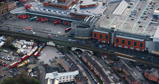 Public invited to learn more about Warrington rail bridge upgrades: Foundry Street and Bewsey Street bridges aerial