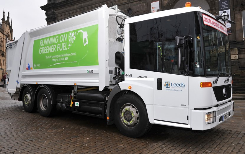 Council to discuss proposal to build and run green fuel station: greenbinwagon.jpg