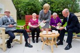 Launching proposals for pensions policy: Deputy First Minister Nicola Sturgeon and Finance Secretary John Swinney were at Smithycroft Very Sheltered Housing Complex in Glasgow to launch the Scottish Govenment's proposals for pensions policy in an independent Scotland. Pic: Jeff Holmes