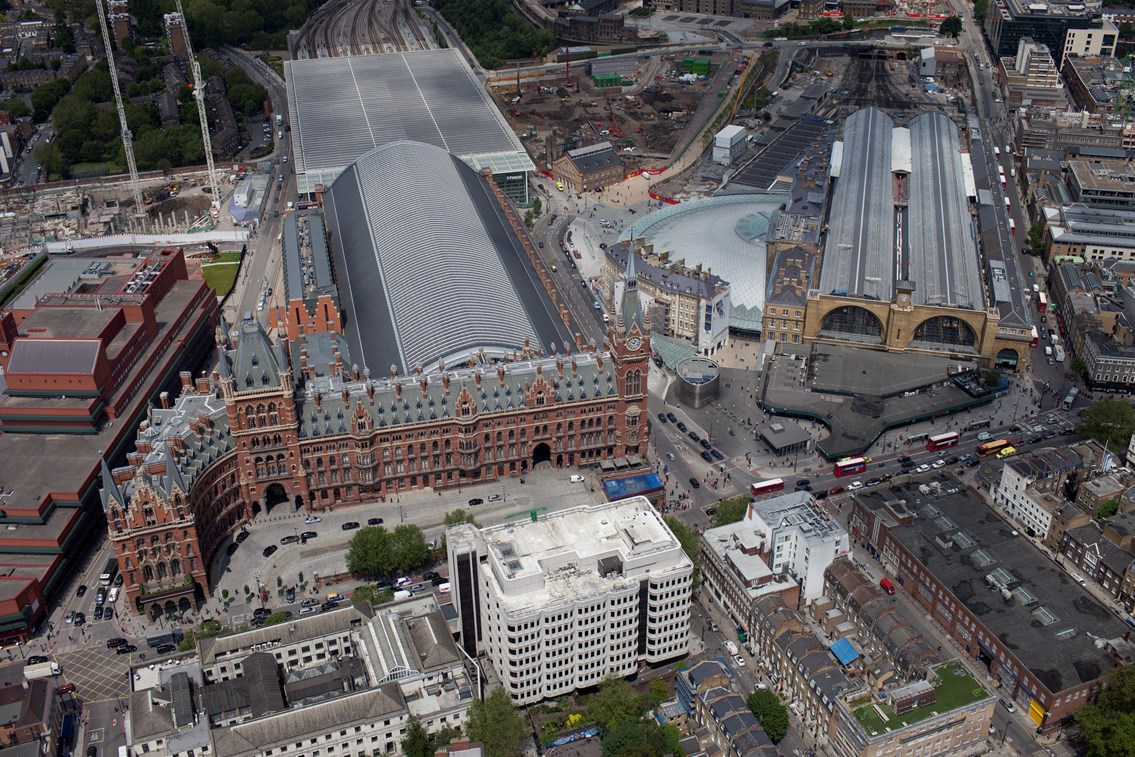 Aerial photography of King's Cross and St Pancras - June 2012: Aerial photography of King's Cross and St Pancras - June 2012