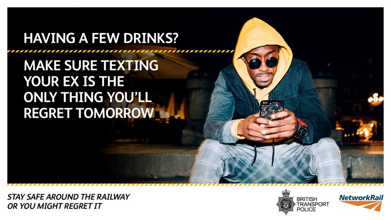 Network Rail and British Transport Police urge revellers to take care as alcohol-related incidents reach record levels on Britain's railways