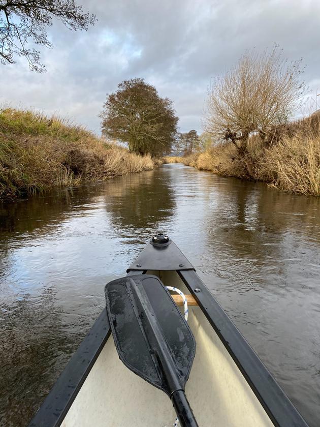 Beaver survey 2020-2021 - canoe survey in Angus - credit Roisin Campbell-Palmer