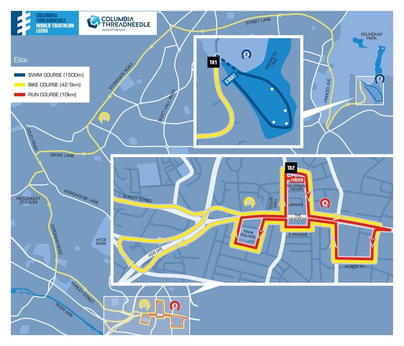 Countdown begins as full route details for Columbia Threadneedle World Triathlon Leeds released: 01031929wtsleedsmapelite.jpg