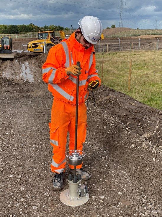 James King BBV apprentice October 2020: Credit: HS2 Ltd (HS2 reaches 400 apprentices milestone, skills, recruitment, PPE,   apprentices)