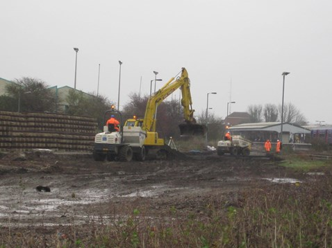 Preparatory work begins to expand Westbury Yard into a recycling facility