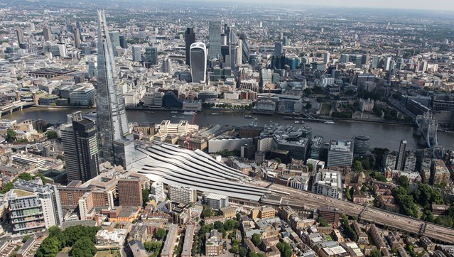 Stunning aerial photography shows central London stations affected by major railway upgrade work in August: aerial - London Bridge (1)