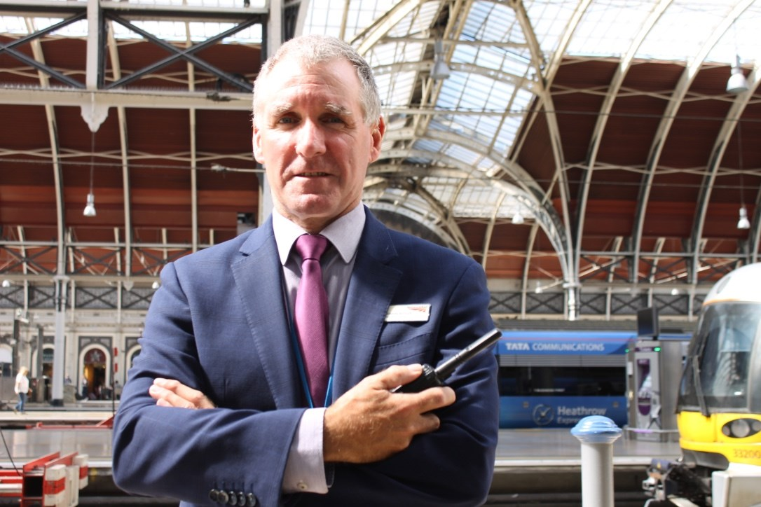 Documentary continues as London Paddington station staff apprehend an intruder on the station roof nicknamed 'Spiderman': Simon Butler