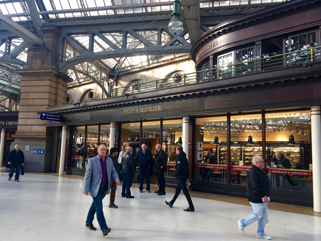 Investment in Edinburgh and Glasgow stations bear fruit as retail sales continue to rise: Glasgow Central