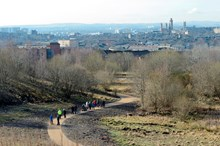 Planning for Great Places - photo from GIF Claypit-D6261 - view over site with people on path