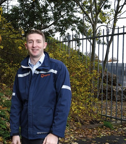 Sam King, gas emergency team at Wales & West Utilities: Photo hand-out from Wales & West Utilities.