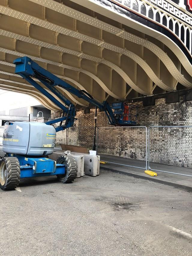 View beneath refurbished Great Ducie Street bridges