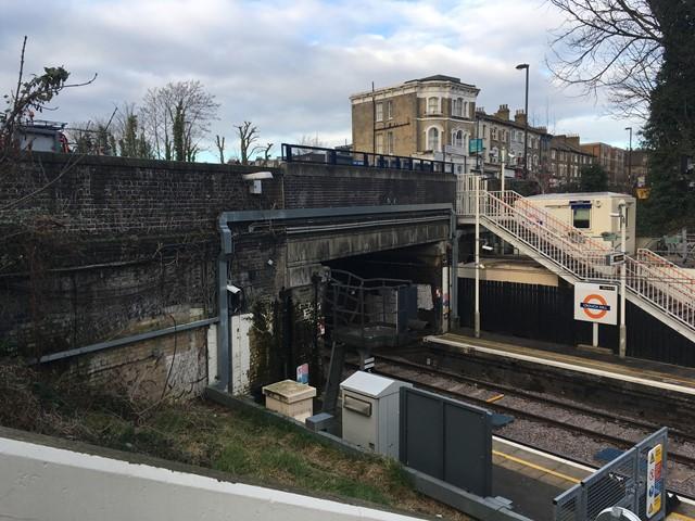 Crouch Hill bridge work