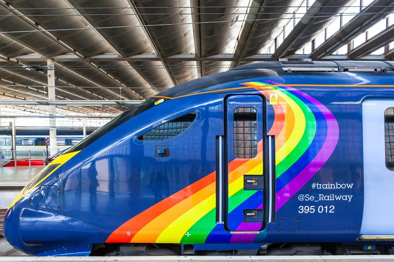 Southeastern catches the #trainbow for LGBT+ Pride season: #trainbow-1