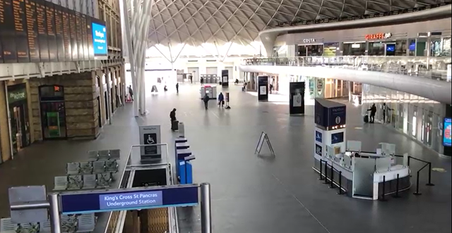 Network Rail thanks commuters as figures show over 90% decrease in King's Cross station users during Covid-19 crisis: Network Rail thanks commuters as figures show over 90% decrease in King's Cross station users during Covid-19 crisis
