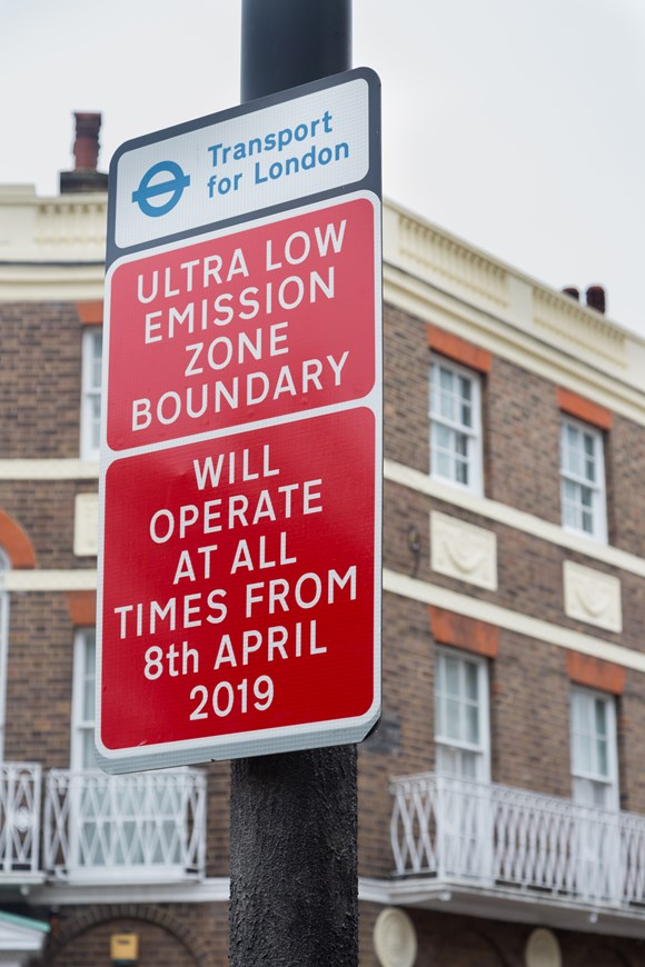 TfL Image - Ultra Low Emission Zone signs 04