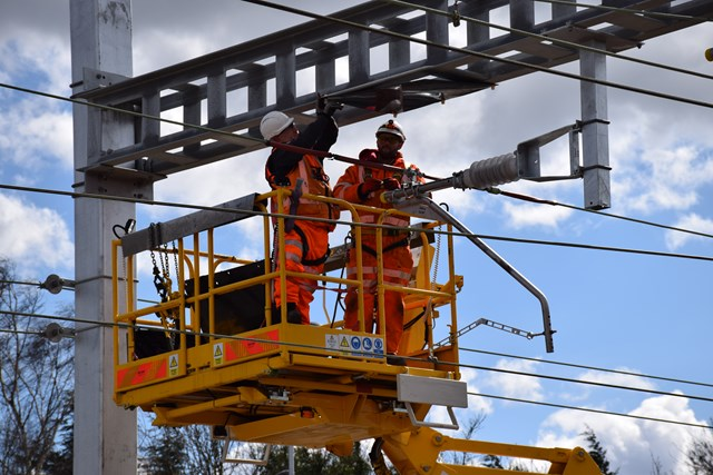 Norfolk, Suffolk and Essex rail passengers advised to plan ahead this Easter as Network Rail set to complete key upgrades: Network Rail undertaking Crossrail overhead line replacement work at Shenfield