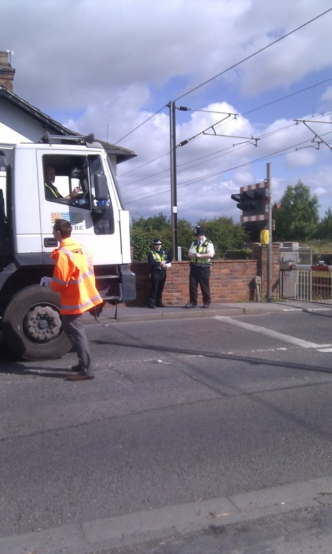 Raiseing awareness of crossing safety at Rossington, South Yorkshire