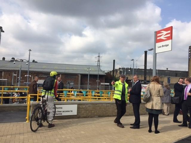 Lea Bridge station opening