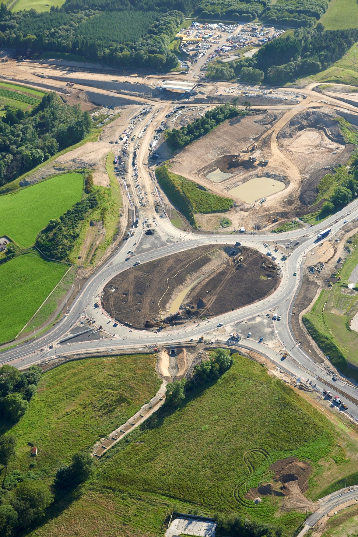 AWPR - Aerial View of Craibstone junction Nearing Completion