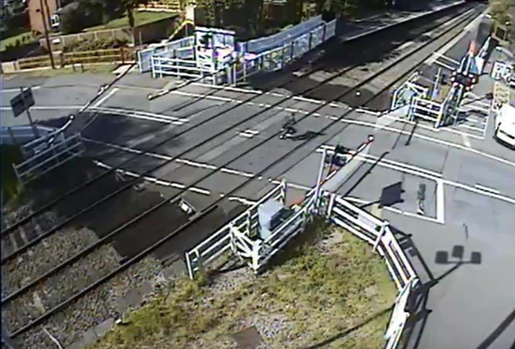 Shocking video shows life threatening prank at Blakedown level crossing: Blakedown level crossing missuse 3