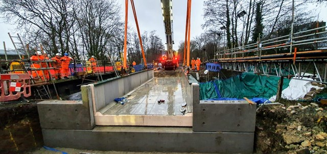Heart of Wessex line improvement update - 129-year-old bridge replaced: Yetminster bridge being replaced -  18 Feb