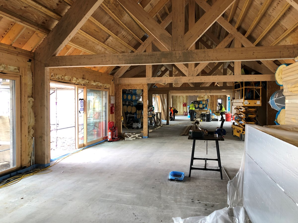 Strathisla Children's Centre interior progress March 2021