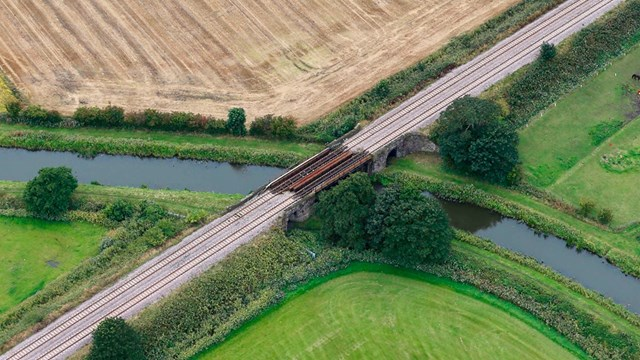 Bridge in Burscough being replaced
