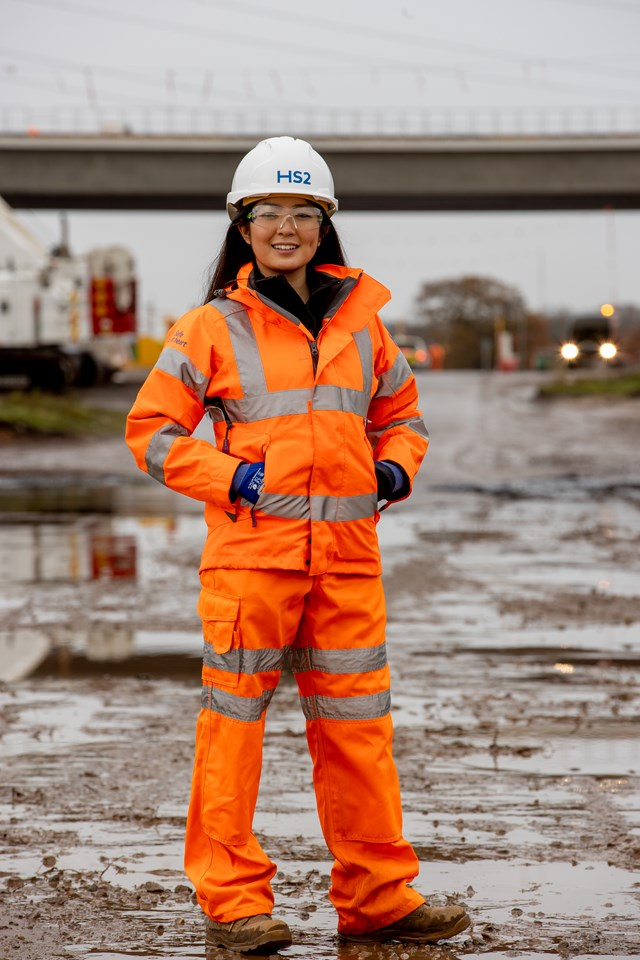 Railway Heroes, Lin Qi from Laing O'Rourke and J. Murphy joint venture. Photo credit: Charlotte Graham