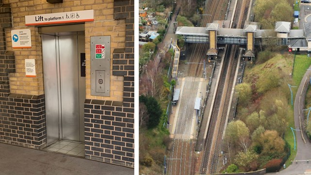 Passengers to benefit from new lifts at The Hawthorns station in Smethwick: Hawthorns lift upgrade composite