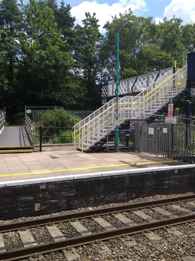 Abergavenny station footbridge refurbishment completed: Residents and passengers thanked: Abrgavenny Station A