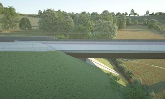 Wendover Dean Viaduct 9 abutment detail