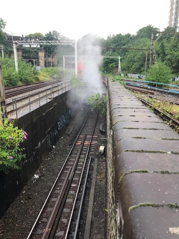 London Euston substation fire