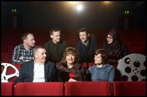 Back row - Filmmakers Duncan Nicoll, James Pearson, Siri Rodnes and Raisah Ahmed, Front row - Ken Hay from EIFF Cabinet Secretary Fiona Hyslop, Julia Amour of Festivals Edinburgh