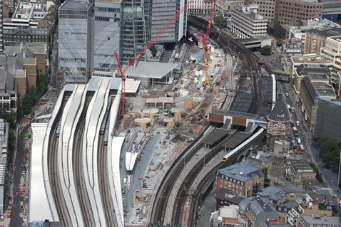 Thameslink Programme - Aerial view of London Bridge 3
