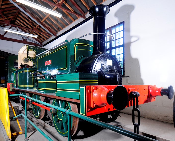 Leeds Industrial Museum: Leeds locomotive Aldwyth, twinned with another Manning Wardle locomotive Nellie which was built for the Sierra Leone Government Railway in 1915.