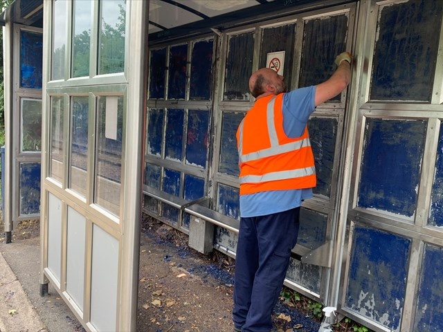 Work to clean up South Wigston station