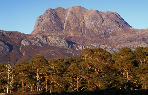 Investment in nature reserves and rangers: Slioch from Beinn Eighe National Nature Reserve (NNR), Wester Ross ©NatureScot