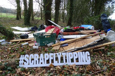 New campaign urges residents to SCRAP fly-tipping: scrap fly tipping sign 1